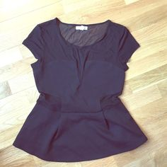 Urban Outfitters Black Going Out Top Size M Solid panels with mesh details (see third photo), perfect for going out! Urban Outfitters Tops