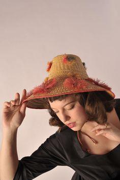 1960s Summer Fun Vintage Beach Hat