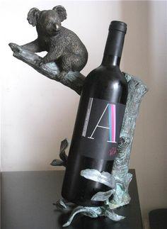 Bronze Antique Decoration Koala eucalypti theroom bronze sculpture wine rack wine rack decoration
