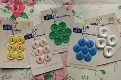 Fashion-Rite Buttons ~ Lot of 30 ~ Pastels ~ Vintage by smileitsvintage on Etsy