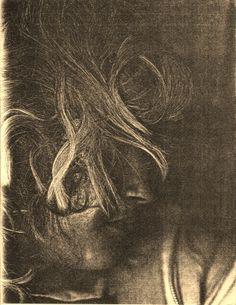 """Fun With Xerox"" self portrait, 1976. (Sepia adjustment 2010)"