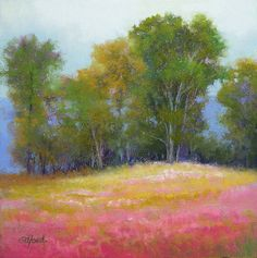 Passion Field II  Original Pastel Painting  by Paula Ann Ford
