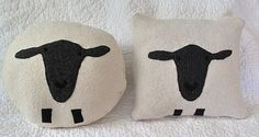 just like sheep, sheep pillows come in varied shapes, sizes, and colors ;)