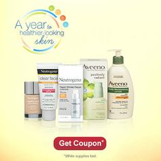 Check out this offer to save $1.50 on Neutrogena or Aveeno with SPF products. While supplies last.