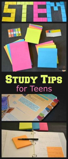 6 STEM Study Tips for Teens -- this is so helpful!!