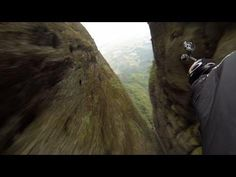 #Insane Wing Suit Flying Through The Narrow Space Between The Mountain In #China - #skydiving #flying