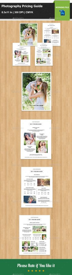 #Photography Pricing Guide Template V13 - Corporate #Flyers Download here: https://graphicriver.net/item/photography-pricing-guide-template-v13/20378693?ref=alena994