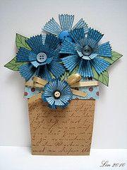 cute flowers in pot card