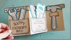 Father& Day Tool Belt Gift Card & Free Printable from AngelStreetMom - Fathers Day Crafts, Happy Fathers Day, Diy For Fathers Day, Cadeau Parents, Daddy Day, Father's Day Diy, Tool Belt, Grandparents Day, Mother And Father