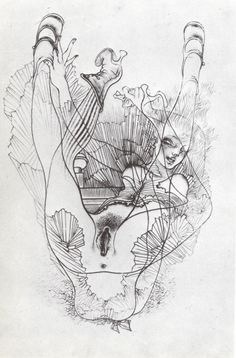 Hans Bellmer, Untitled, 1946-1947 [crop]  From the series of illustrations for Georges Bataille's Histoire de l'oeil (Story of the Eye)