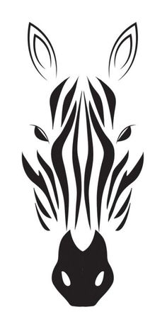 Zebra stencil for inverted carving Stencils, Stencil Art, Animal Stencil, Silhouette Art, Silhouette Projects, Animal Silhouette, Zebra Drawing, Stencil Patterns, Stencil Templates