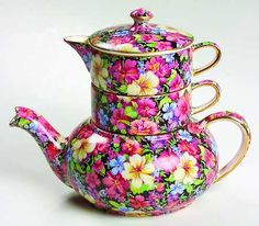 Florence Mini Teapot Stacking Set by Royal Winton at Replacements, Ltd