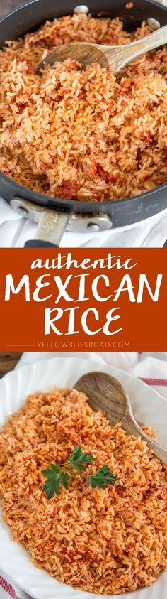 Authentic Mexican Rice - as close to restaurant taste as you can get! #mexicanfoodrecipes
