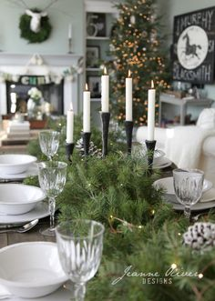 Jeanne oliver designs holiday house tour pretty table setting