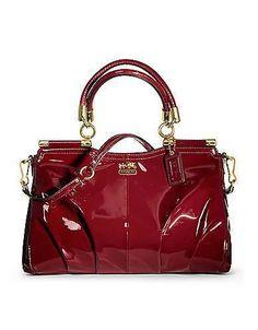 Coach #handbag #purse #clutch #fashion madison patent carrie
