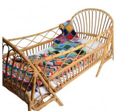wicker toddler bed from Paris.