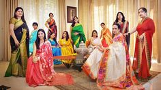 Resplendent in their saris are (clockwise from far left) Ms Reena Ahuja in black and green, Ms Ritu Patro in turquoise, Ms Jayashree Ashok Krishen (standing), Ms Bhanu Jayanth (in blue), Ms Latha Vinod Krishnan, Ms Smita Sharma, Ms Malini Shekhar, Ms Shagun Chand, Ms Shanthi Chandrasekar, Ms Rakhi Gupta, project leader Mrs Ruby Shekhar (seated in beige) and Ms Dipti Sharma. Part of the 50 Sari Shades of Singapore project, the women are photographed by Mrs Shekhar in their saris around…