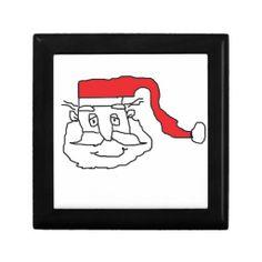 Santa Trinket Box #Santa #Christmas #TrinketBox