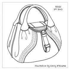FENDI - SPY BAG - Designer Handbag Illustration / Sketch / Drawing / CAD / Borsa Disegno