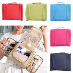 PortableTravel Cosmetic Bag Organizer Toiletry Makeup Bag Organizador Wash Make Up Bag Bolsa Neceser Maquillaje Case WML Travel Cosmetic Bags, Travel Bags, Stationary Storage, College Bags, Travel Items, Travel Organization, Packing Tips For Travel, Wash Bags, Makeup Case