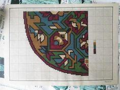 Antique Hand Painted Berlin Woolwork Embroidery Chart- Heinrich Kuehn-Foot Stool | eBay