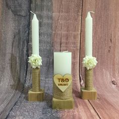 Rustic Unity Candle Set of 3, Custom Wedding Candles Set Unity Candle Holder, Shabby Chic Wedding Decor Pillar and Taper Candle Set, Celebration Candles Wedding Unity Candle Set >>> Continue to the product at the image link. (This is an affiliate link and I receive a commission for the sales)