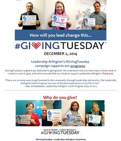 Leadership Arlington's Giving Tuesday Donation page submission! @LeadershipARL