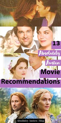 I'm always looking for good movies. Here are 13 excellent choices, especially if you love clean romance. So for all you Austen-lovers out there, you're welcome. Movie To Watch List, Tv Series To Watch, Good Movies To Watch, See Movie, Movie List, Great Movies, Film Movie, Period Romance Movies, Romance Movies Best