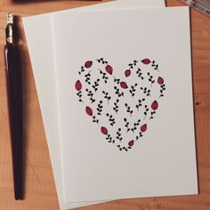 Sweet heart with tiny flowers and leafs by nwpb©. Ways To Say Hello, Hello My Love, Tiny Flowers, Stationery, Notes, Heart, Paper, Sweet, Cards