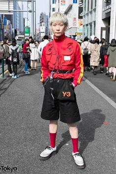 "punk / alternative street style from the ""Harajuku Street Style Crew"" (see the rest of them here: https://www.pinterest.com/pin/92675704815259508/ ) ... Daiki   21 April 2017   #Fashion #Harajuku (原宿) #Shibuya (渋谷) #Tokyo (東京) #Japan (日本)"