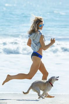 Ashley Greene Puts Her Rock Hard Abs on Display for 'Shape': Photo Ashley Greene shows off her crazy fit abs on the cover of Shape magazine's April 2016 issue. Here's what the actress had to share with the mag:… Breaking Dawn, Ashley Judd, Shape Magazine, Dog Years, Old Actress, Intense Workout, Beach Babe, Beach Photos, Puppies