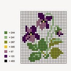 Punto croce - Schemi Gratis e Tutorial: La cucina di primavera profuma di violette