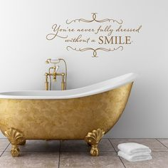 Beautiful golden tub