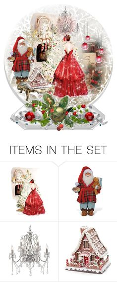 """""""Christmas Snow Globe"""" by sherrysrosecottage-1 ❤ liked on Polyvore featuring art"""