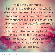 Monday Morning Motivation: We Are Invincible! ⋆ My best friend Adeline - We can all use encouragement from time to time. I find Monday morning motivation especially helpful to start the week on a positive note. Check this out! Source by alexabrackin Morning Affirmations, Daily Affirmations, Healing Affirmations, Affirmations Confidence, Quotes To Live By, Me Quotes, Motivational Quotes, Famous Quotes, Believe Quotes