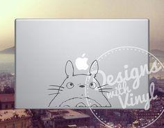 Totoro Totoro Half Body  Laptop Car Graphics by DesignsWithVinyl