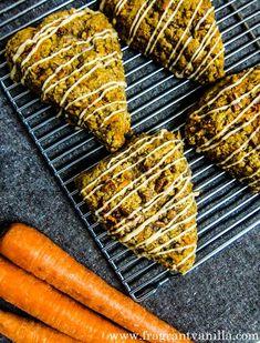 Vegan Carrot Cake Scones