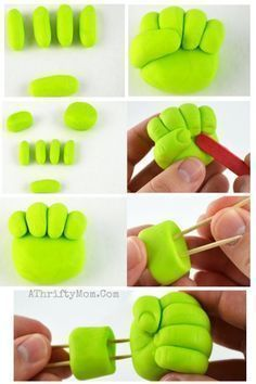 Hulk Smash Cupcakes ~ Einfache Superhelden-Party-Ideen - Hulk,Iron Man,Thor u.w -You can find Hulk and more on our we. Avenger Party, Avenger Cake, Avenger Cupcakes, Hulk Party, Superhero Cake, Superhero Birthday Party, Hulk Birthday Cakes, 25 Birthday, Fondant Toppers