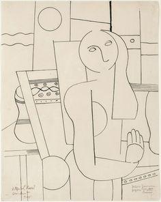 Fernand Léger, 'Dessin pour une figure,' 1922, Galerie Thomas Modern Art, Contemporary Art, Fernand Leger, Cubism, Art Studios, Art History, Artsy, Wall Art, French Art