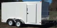 new v-nose enclosed cargo trailer new interior ramp door Enclosed Cargo Trailers, Plywood Walls, Roof Vents, New Tyres, Side Door, 6 Months, Interior, 6 Mo, Indoor