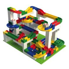 Hubelino | Kugelbahn für Kinder – 200-teiliger Baukasten - damit haben alle Lego Duplo Fans super viel Spaß