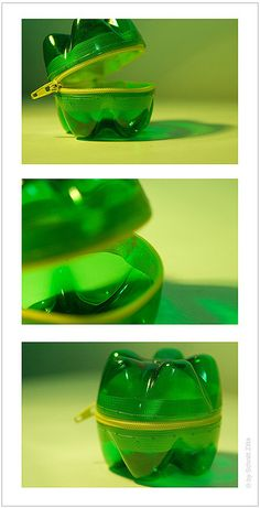 DIY: Pet Bottle Purse made from recycled plastic bottle bottoms http://www.facebook.com/petbottlepurse www.zittaschnitt.com VIA http://www.home-designing.com/2008/09/ingeniously-re-used-products  #reciclaje  #envases