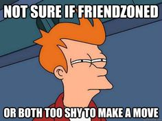 not sure if friendzoned or both too shy to make a move