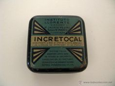 Antigua lata de pastillas INCRETOCAL. Medicina. Medicamento.