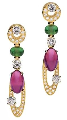 Bvlgari Elisia White Gold Topaz & Peridot Earrings ♥✤ | Keep the Glamour | BeStayBeautiful