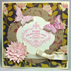 """Muttertagskarte mit dem bei mir frisch eingezogenen Stempelset """"Kreative Elemente"""" von Stampin' Up!, Designerpapier von Kaisercraft und ein bisschen Schimmer von den TwinklingsH2O."""