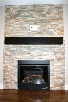 Beachwalk Slate Ledgestone Fireplace For the Home Pinterest