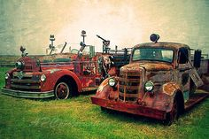 Country Photography Vintage Firetrucks  Red by APCphotocreations, Etsy