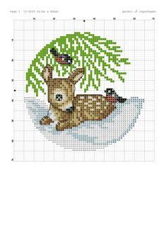 Cross Stitch Art, Cross Stitch Animals, Cross Stitch Designs, Cross Stitching, Cross Stitch Embroidery, Embroidery Patterns, Cross Stitch Patterns, Cross Stitch Christmas Ornaments, Christmas Embroidery