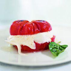 Tomato and Mozzarella Burger | MyRecipes.com